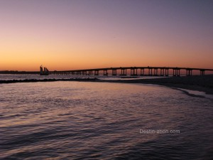 Destin Bridge at Sunset