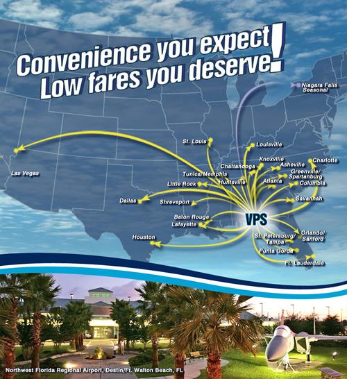Northwest Florida Regional Airport More Direct Flights
