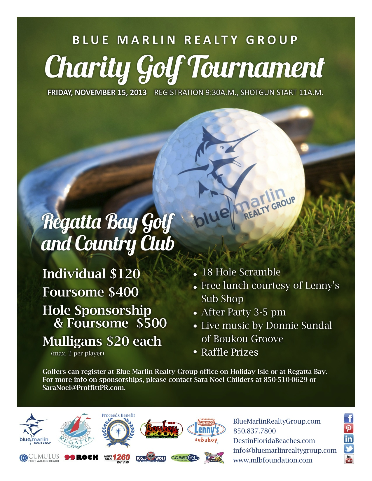 blue marlin realty charity golf tournament november 15 2013