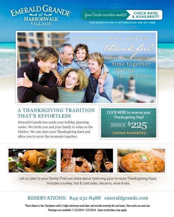 Emerald Grande Thanksgiving Tradition