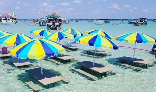 Crab Island Shuttle Boat and Crab Island Water Taxi - Destin Florida Beach  Things to Do
