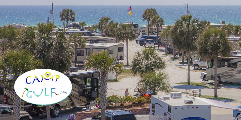 Destin Beach Camping   Okaloosa Island RV Camping   Parks